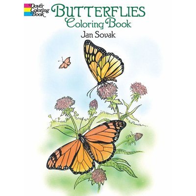 DOVER PUBLICATIONS ANIMAL COLORING BOOKS BUTTERFLIES