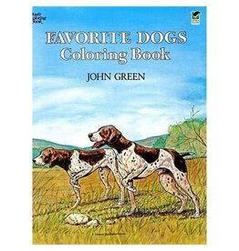 DOVER PUBLICATIONS ANIMAL COLORING BOOKS FAVORITE DOGS