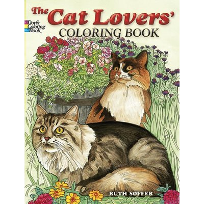 DOVER PUBLICATIONS ANIMAL COLORING BOOKS CAT LOVERS