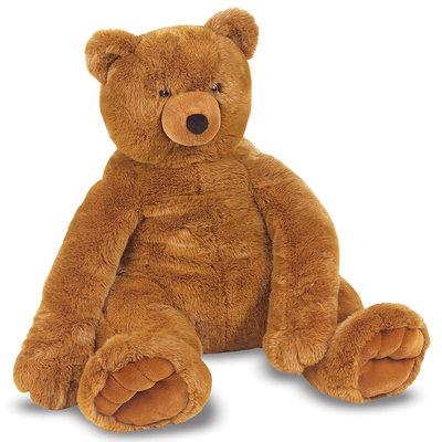 MELISSA AND DOUG STUFFED TEDDY BEAR LARGE M & D