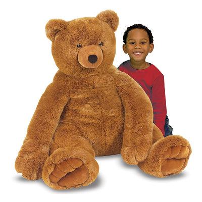 MELISSA AND DOUG STUFFED TEDDY BEAR LARGE