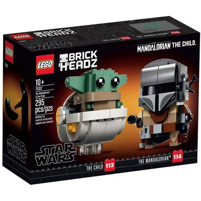 LEGO THE MANDALORIAN & THE CHILD BRICKHEADZ