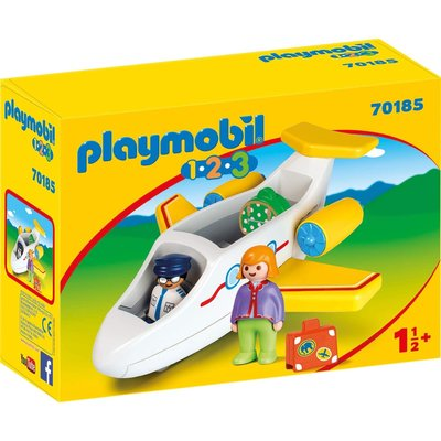 PLAYMOBIL AIRPLANE WITH PASSENGER PLAYMOBIL 1,2,3