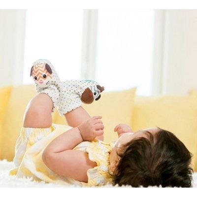 INFANTINO FOOT RATTLES ZEBRA & TIGER