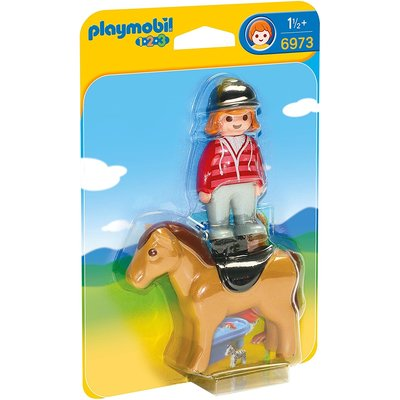 PLAYMOBIL EQUESTRIAN WITH HORSE PLAYMOBIL 1,2,3