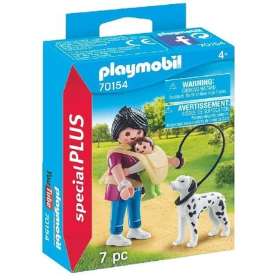 PLAYMOBIL MOTHER WITH BABY & DOG PLAYMOBIL