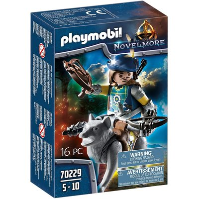 PLAYMOBIL NOVELMORE CROSSBOWMAN WITH WOLF PLAYMOBIL