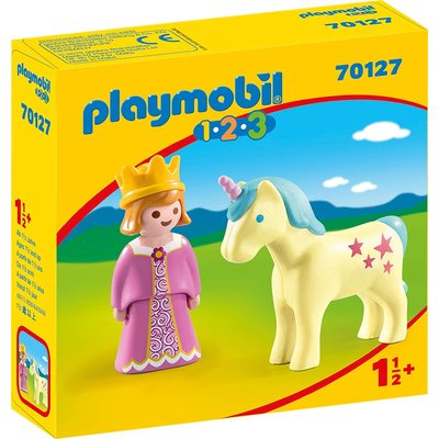 PLAYMOBIL PRINCESS WITH UNICORN PLAYMOBIL 1,2,3