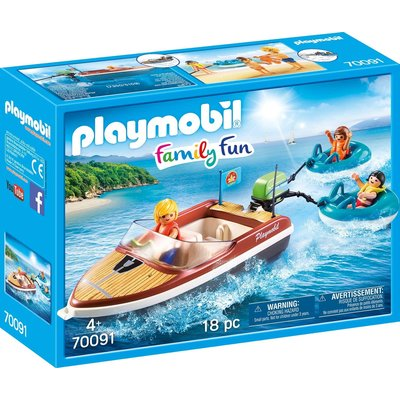 PLAYMOBIL SPEEDBOAT WITH TUBE RIDERS PLAYMOBIL