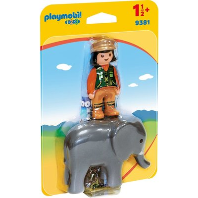 PLAYMOBIL ZOOKEEPER WITH ELEPHANT PLAYMOBIL 1,2,3