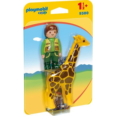 PLAYMOBIL ZOOKEEPER WITH GIRAFFE PLAYMOBIL 1,2,3