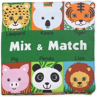 MELISSA AND DOUG MIX & MATCH CLOTH BOOK**