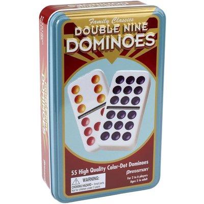 PRESSMAN DOUBLE 9 COLOR DOMINOES