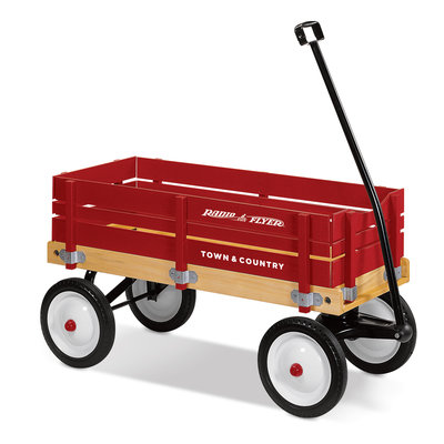 RADIO FLYER TOWN AND COUNTRY WOOD WAGON