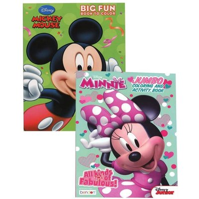 BENDON DISNEY MICKEY/MINNIE MOUSE JUMBO COLORING BOOK