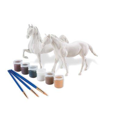 BREYER PAINT YOUR OWN HORSE QUARTER HORSE & SADDLEBRED