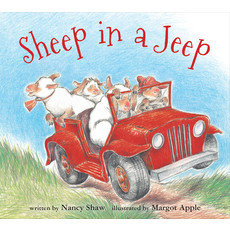 HOUGHTON MIFFLIN SHEEP IN A JEEP
