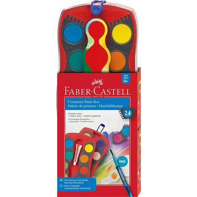 FABER CASTELL 24 WATERCOLOR CONNECTOR PAINT BOX