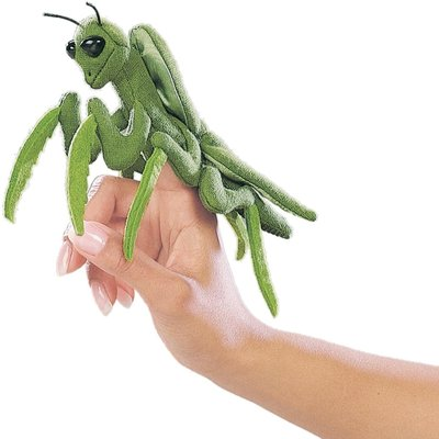 FOLKMANIS INC MINI PRAYING MANTIS FINGER PUPPET FOLKMANIS