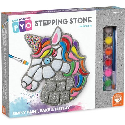 MINDWARE PAINT YOUR OWN STEPPING STONE UNICORN