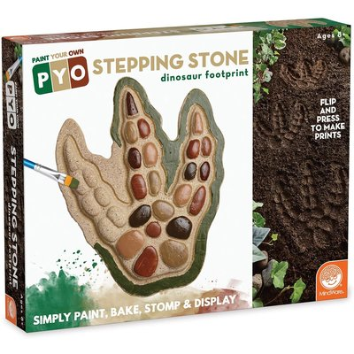 MINDWARE PAINT YOUR OWN STEPPING STONE DINOSAUR FOOTPRINT