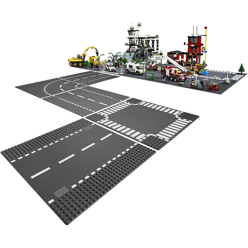 LEGO CURVE AND CROSSROAD BASEPLATE