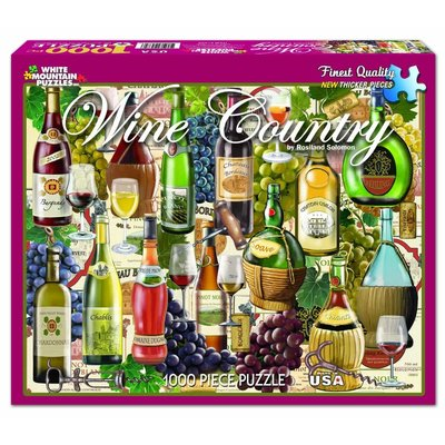 WHITE MOUNTAIN PUZZLE WINE COUNTRY 1000 PC PUZZLE