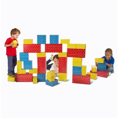 MELISSA AND DOUG 40 PC CARDBOARD BLOCKS