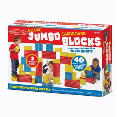 MELISSA AND DOUG DELUXE JUMBO  CARDBOARD BLOCKS