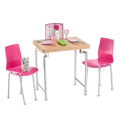 MATTEL BARBIE FURNITURE TABLE & CHAIRS