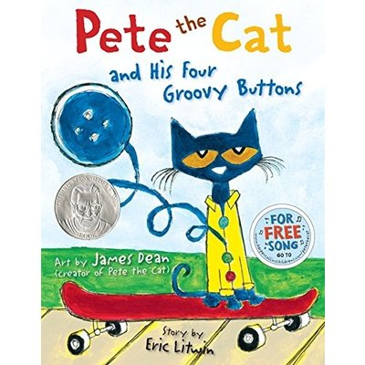 HARPERCOLLINS PUBLISHING PETE THE CAT & FOUR GROOVY BUTTONS HB DEAN & LITWIN