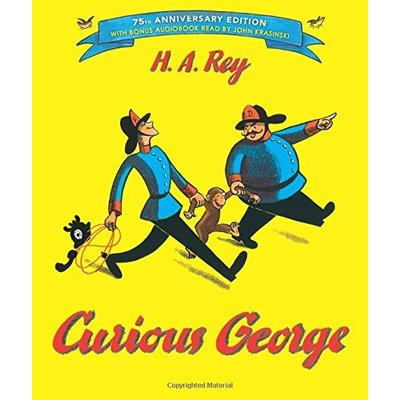 HOUGHTON MIFFLIN CURIOUS GEORGE 75TH ANNIVERSARY HB REY