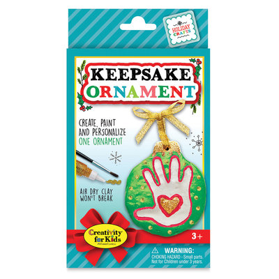 CREATIVITY FOR KIDS HOLIDAY KEEPSAKE ORNAMENT KIT
