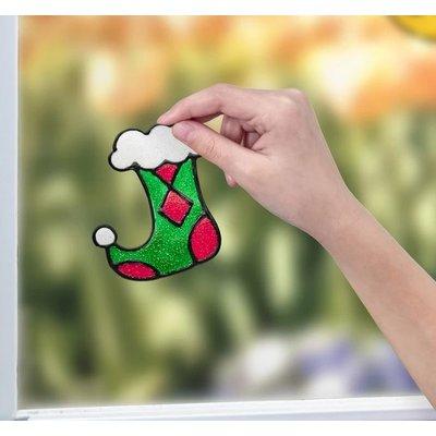 CREATIVITY FOR KIDS HOLIDAY SPARKLING WINDOW ART