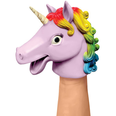 SCHYLLING ASSOCIATES RUBBER HAND PUPPET UNICORN