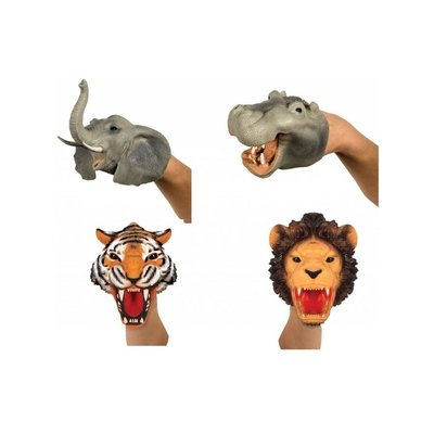 SCHYLLING ASSOCIATES RUBBER HAND PUPPET SAFARI ANIMAL