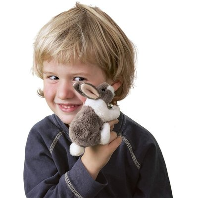 FOLKMANIS INC MINI BUNNY RABBIT FINGER PUPPET FOLKMANIS