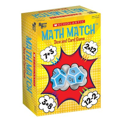 UNIVERSITY GAMES SCHOLASTIC MATH MATCH GAME