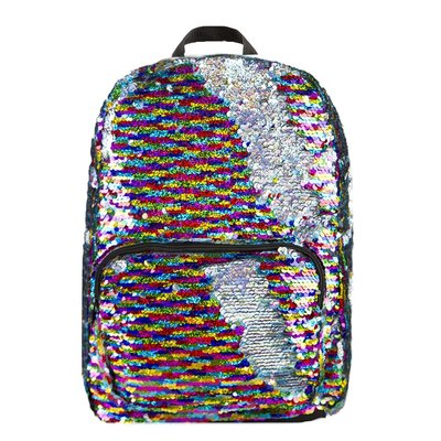 FASHION ANGELS MAGIC SEQUIN BACKPACK LARGE  RAINBOW/SILVER**
