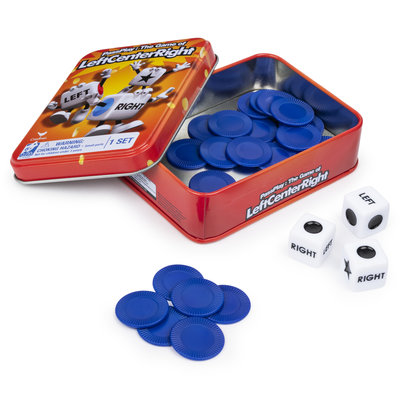 SPINMASTER LEFT CENTER RIGHT GAME IN TIN