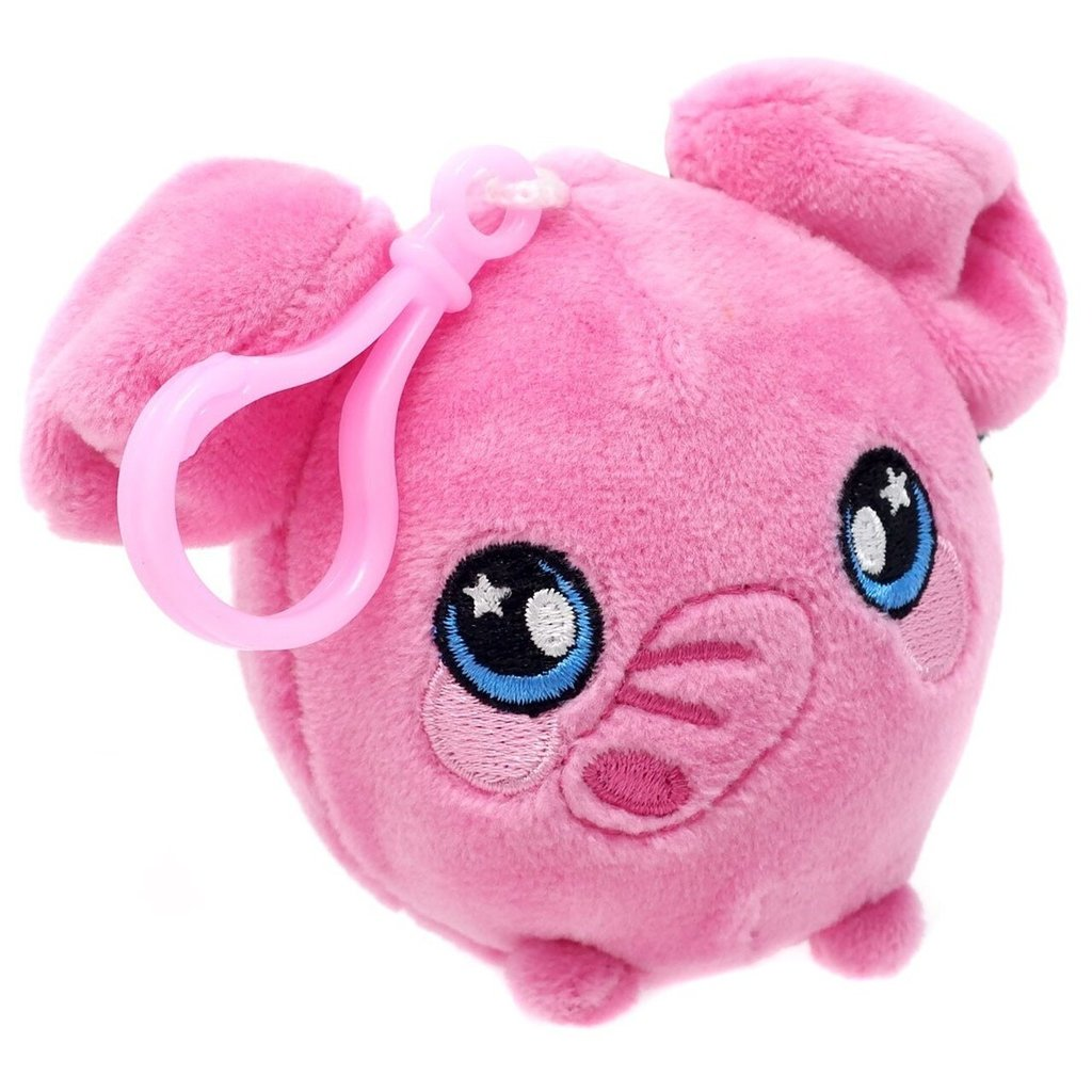 """SQUEEZAMALS SERIES 2 SQUEEZE ME 3/"""" PLUSH CLIP-ON NEW WITH TAG PINK GIRAFFE"""