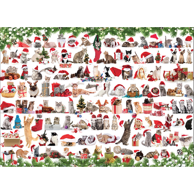 EUROGRAPHICS HOLIDAY CATS 1000 PC PUZZLE