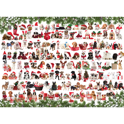 EUROGRAPHICS HOLIDAY DOGS 1000 PC PUZZLE