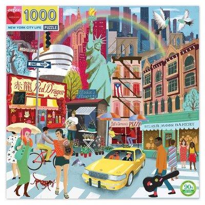 EEBOO NEW YORK CITY LIFE 1000 PC PUZZLE