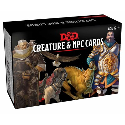 WIZARDS OF THE COAST D & D CARDS: CREATURE & NPC