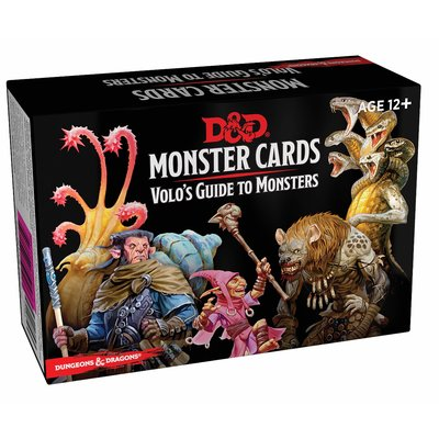 WIZARDS OF THE COAST D & D MONSTER CARDS VOLO'S GUIDE DECK