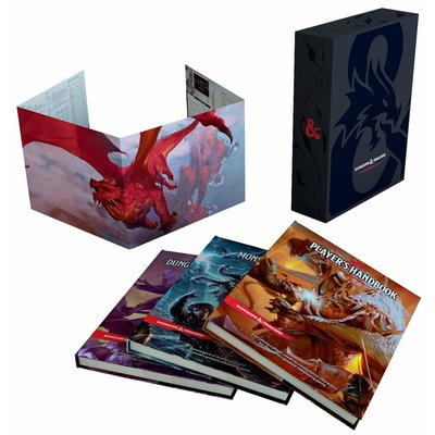 WIZARDS OF THE COAST D & D 5TH: CORE RULEBOOK GIFT SET