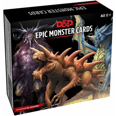 WIZARDS OF THE COAST D & D MONSTER CARDS: EPIC MONSTERS