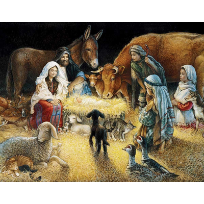 WHITE MOUNTAIN PUZZLE O NIGHT DIVINE 1000 PC PUZZLE