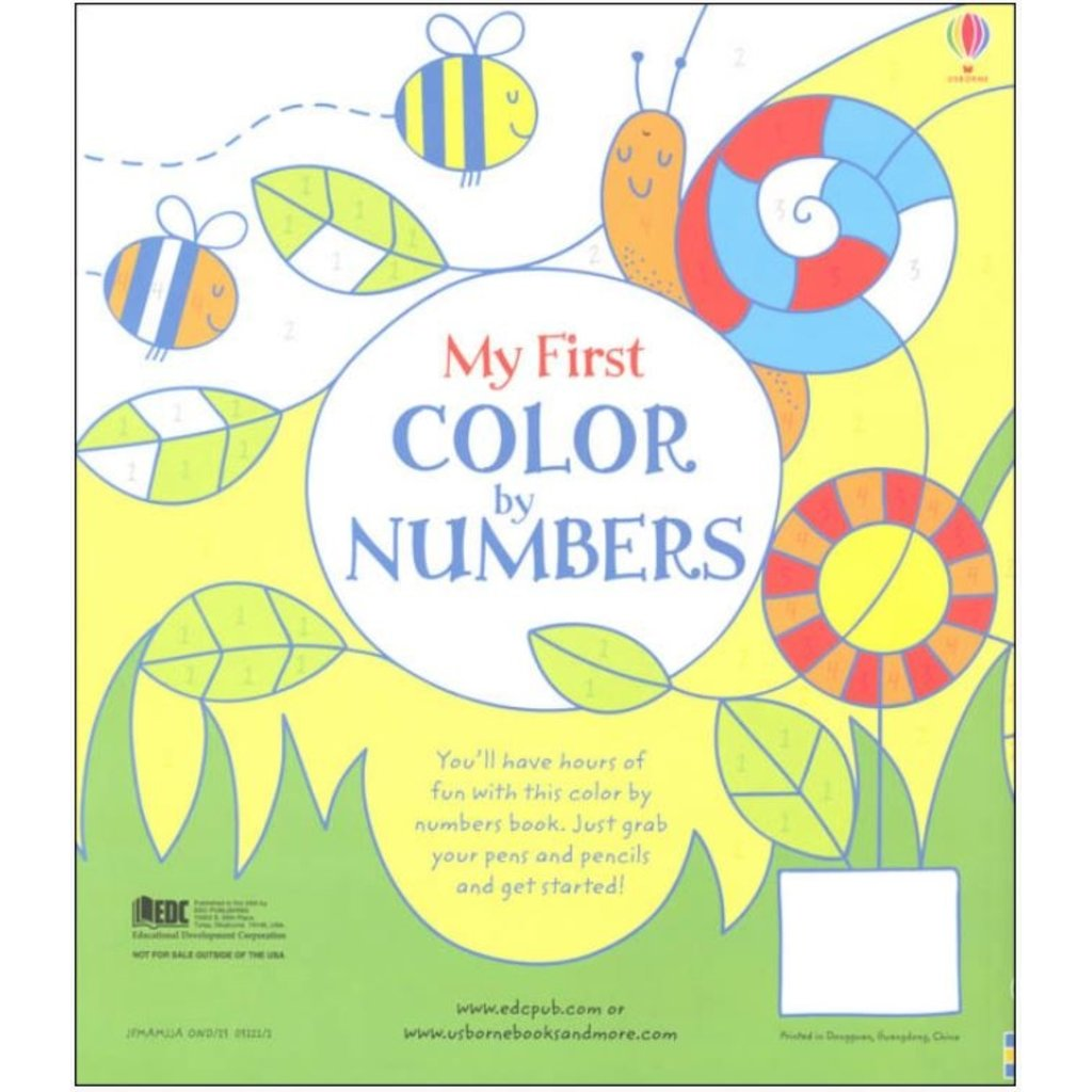 EDC PUBLISHING MY FIRST COLOR BY NUMBERS BOOK
